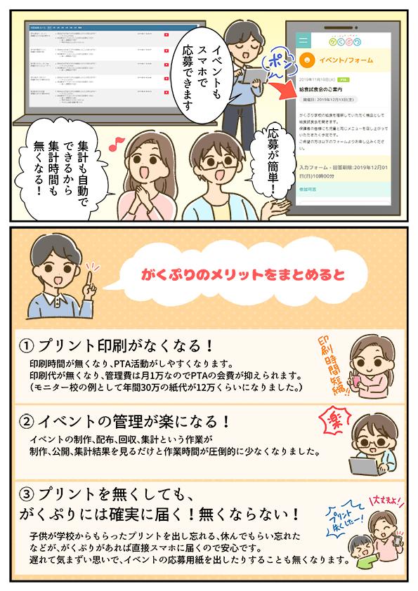 小中学校向けプリント配信アプリ『がくぷり』使い方漫画の画像3枚目