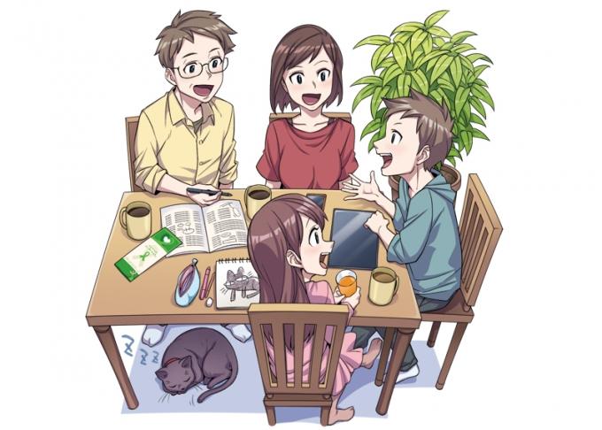 公益社団法人日本臓器移植ネットワーク様の中学道徳科教材用マンガ動画・イラストの画像6枚目