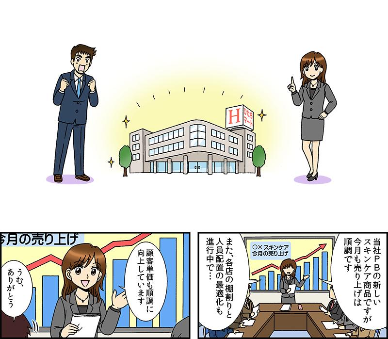展示会用紹介漫画 『なぜ、あのお店は顧客単価を15%も伸ばすことができたのか?』[画像1]