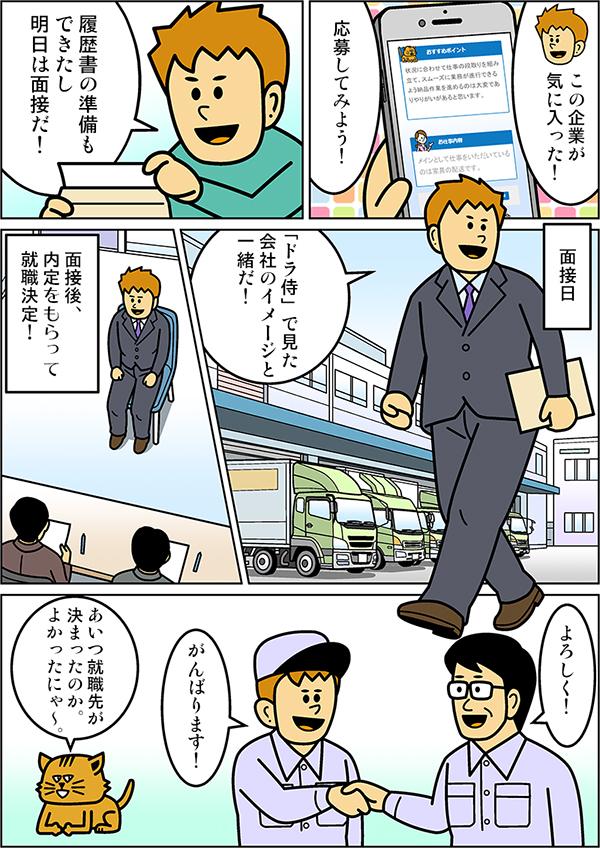 ドライバー専門求人サイトドラ侍漫画[画像3]