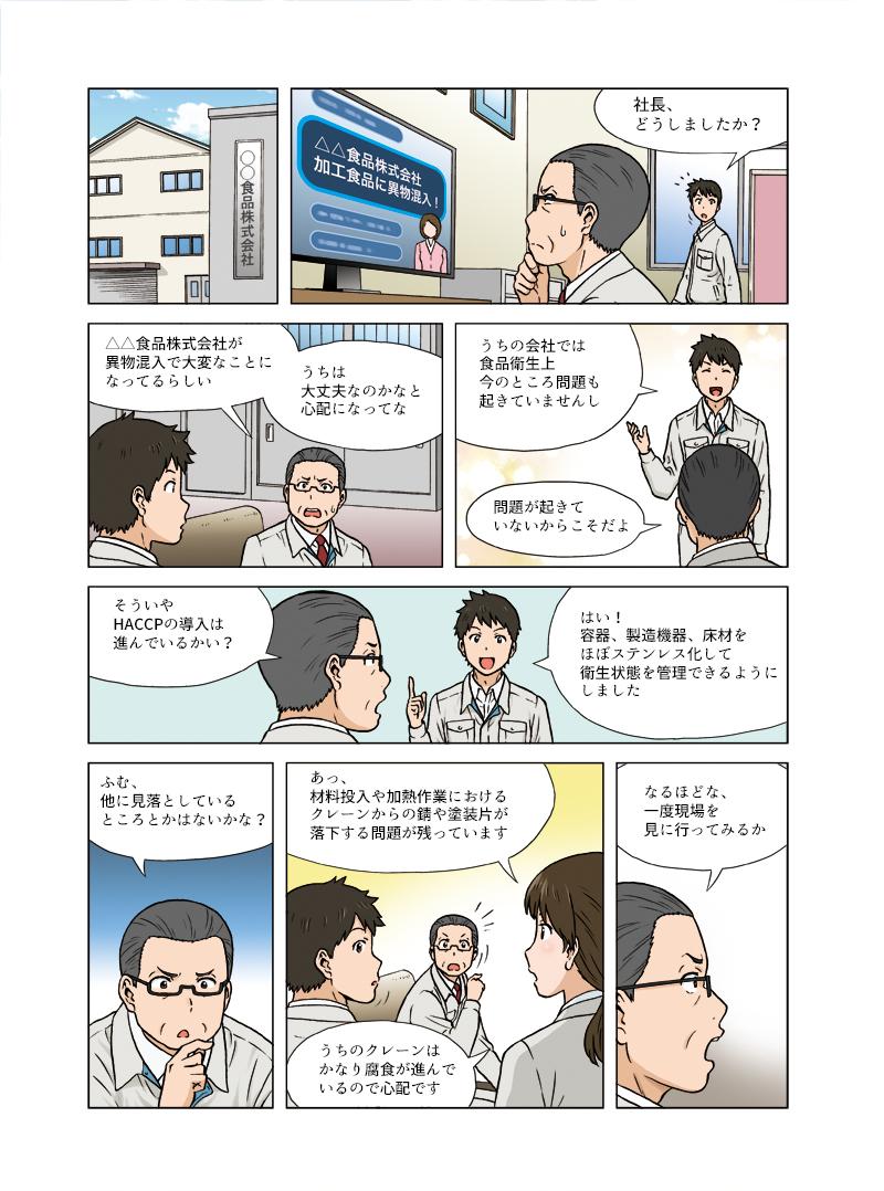 不二工業様のLP・カタログ第1弾(HACCP対策クレーン)[画像1]