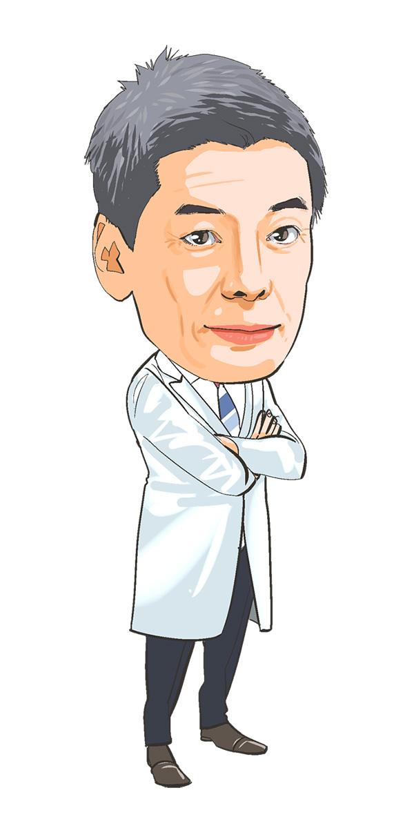 医療系雑誌のコラム用似顔絵イラストカット[画像1]