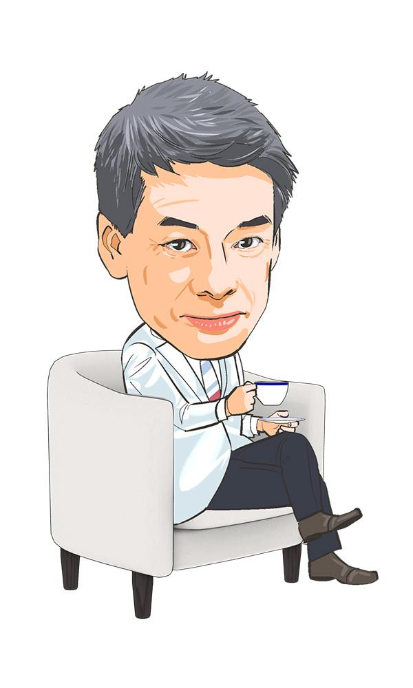 医療系雑誌のコラム用似顔絵イラストカット[画像2]
