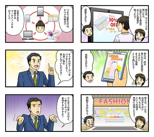 展示会用紹介漫画 『ビッグデータ×オムニチャネルで、お買い物を感動体験に!』[画像2]