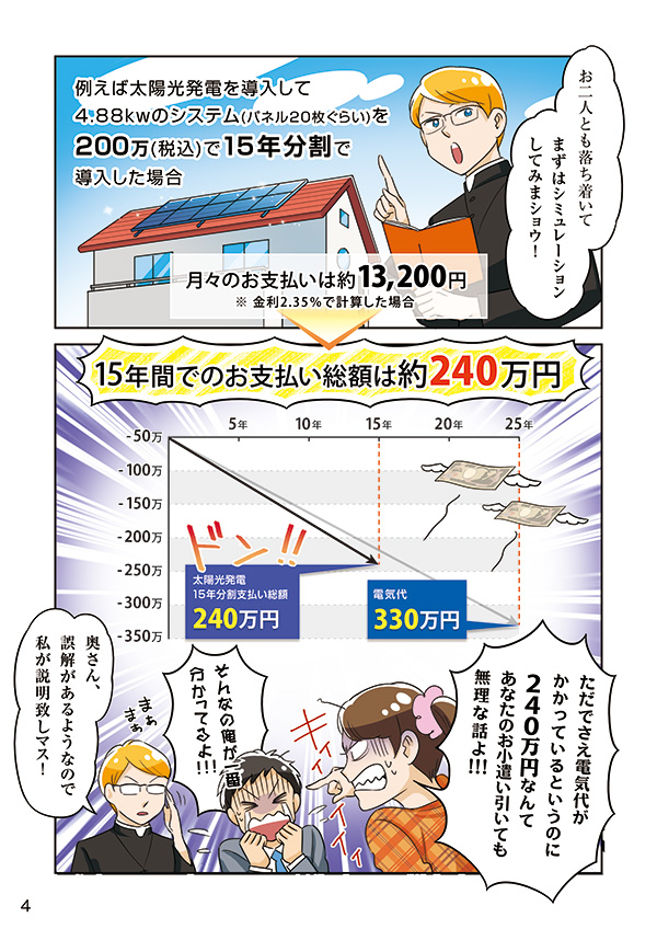 太陽光発電システムのガイドブック掲載漫画[画像5]