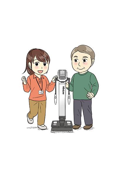 InBody測定器を紹介する漫画とカットイラスト[画像1]