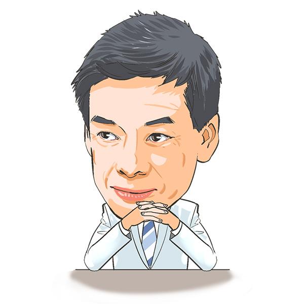 医療系雑誌のコラム用似顔絵イラストカット[画像4]