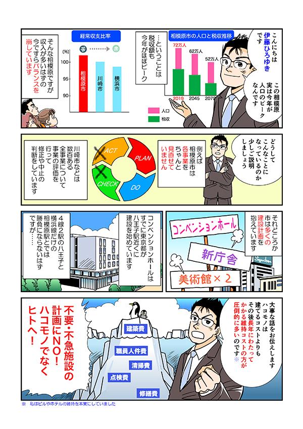 市議会議員選挙用マニフェスト冊子掲載漫画[画像1]