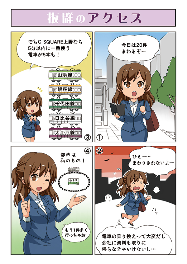G-SQUARE上野の内覧会にて使用する物件紹介漫画[画像2]