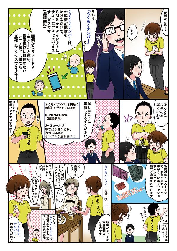 fonfun SMS システム紹介漫画[画像2]