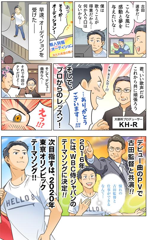 歌手オーディションLP用漫画[画像1]