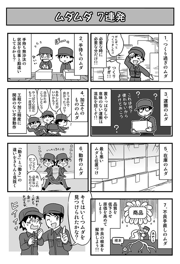 印刷会社の社内教育ツール冊子掲載漫画[画像1]