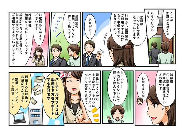 COWKS赤坂のランディングページ漫画[画像2]